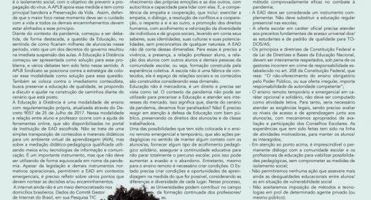 Boletim Rede Estadual – Mês Abril de 2020
