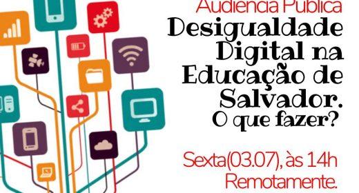 APLB PARTICIPA DE AUDIÊNCIA SOBRE DESIGUALDADE DIGITAL PROMOVIDA PELA CÂMARA DE SALVADOR